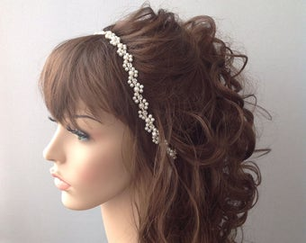 Bridal Headband, Wedding headband, Pearl Wedding Headband, hair jewelry, ivory head piece, brides accessories, gift for her