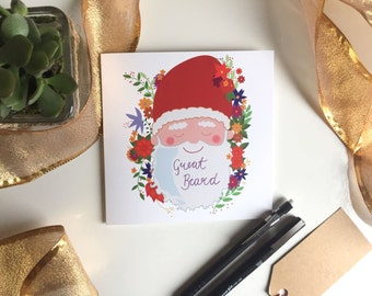 Great Beard Father Christmas Greetings Gard, Santa