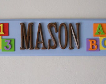 Children's Personalized Name Plaques