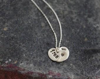 free as a bird silver pendant (silver adjustable chain)
