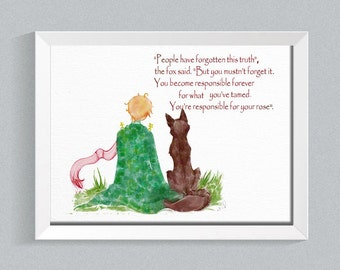 Little prince quotes etsy Decoration le petit prince