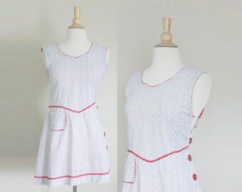 1930s Dress | Feedsack Dress | Novelty Print Dress | Beach Dress | Extra Small