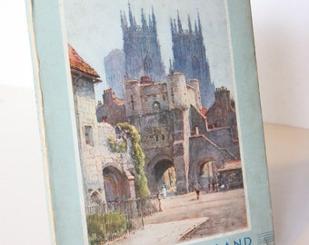 Illustrated York City Guide 1940s Travel Book Vintage Gift Art book Paintings