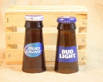 Shot Glasses Upcycled from Bud LIght Beer Bottles, Shot Glass, Upcycled Beer Bottle, Unique Glassware, ONE Shot Glass