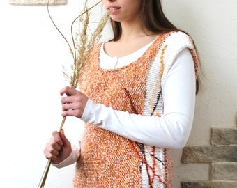 Top Herbs, Vest Knitted, Embrodery Tank Top