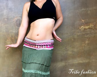 ATS, Bellydance, tribal fusion belt, kuchi beautiful belt