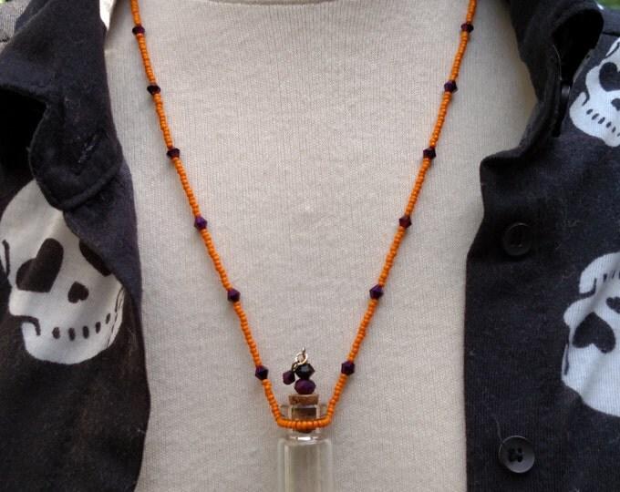 Mojo Bottle Necklace, Essential Oil Bottle Pendant, Bottle Pendant