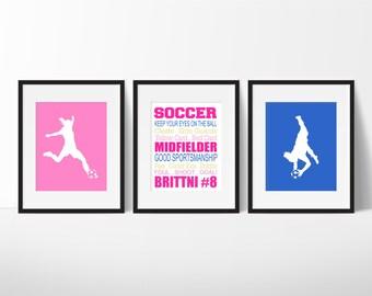 Soccer Wall Decor soccer wall art | etsy