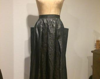 Atomic Silver/Black Swing Skirt with Bat Wing Panels! Amazing!
