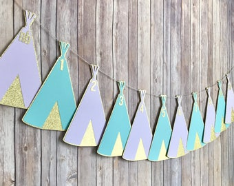 Wild One Teepee Photo Timeline Banner, picture timeline banner, photo timeline banner, first birthday banner