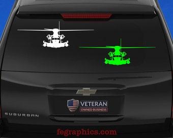 "MH-53 PAVELOW - ""Front View"" - Vinyl Decal"