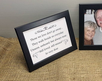 Framed print, Memorial table, Wedding, Framed quote, Special occasions, House decor, Sentimental, Wedding display, Those we love, 380