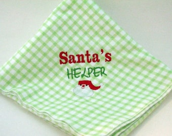 Santa's Helper Machine Embroidery Design-Santa Clause Design-Holiday Stitches-Holiday Embroidered-Instant Download