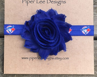 toronto blue jays baby headband, Baby headband, headbands , blue jays elastic, baby gift, girl headband, shabby chic, royal blue flower