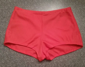 1970's Orange Red Hot Pant Booty Shorts Size Small