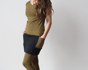 Hemp Organic Organic Cotton T-Shirt Olive Green Short Sleeve