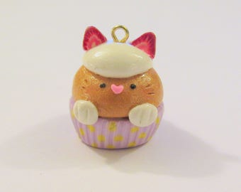 Adorable Cupcake Kitty Charm - FoodForFriends