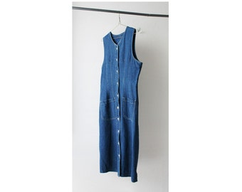 1990's Midi Denim Dress