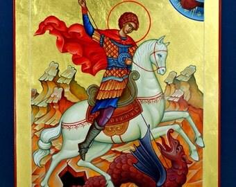 St. George - Hand Painted Orthodox Icon