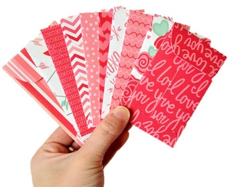Set Of 10 // Valentine Gift Card Holders // Gift Card Envelopes //