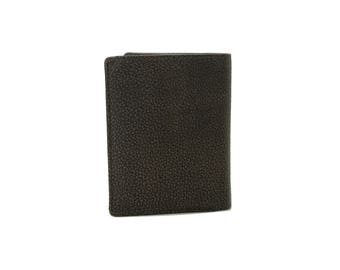 Mens Small Slim Bifold Genuine Leather Wallet Coins Card Holder Kango Cooper 9639
