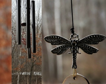 Memorial Wind Chime Dragonfly Custom Gift After Loss Of Mom Dad or Loved One In Memory of stillbirth miscarriage memorial garden