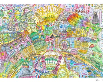 Brighton City Print, Street Map Art, Brighton Map Poster, Brighton Map Print, City Map Wall Art, Brighton Map, Travel Poster