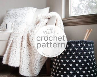 Crochet Pattern / Chunky Fair Isle Basket  / THE ALPINE Basket