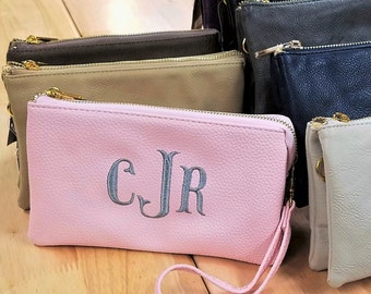 Clutch Monogram Clutch Personalized Clutch Bridesmaid Clutch Wristlet Purse