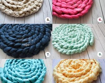 RTS Basket Stuffer, Basket Filler, Newborn Braid, Newborn Photo Prop, Newborn Props, Wool Basket Stuffer, Photo Prop, Photography Props