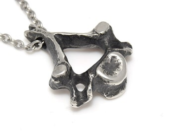 Cervical Vertebra Pendant Necklace, Anatomical Jewelry, Spine Charm