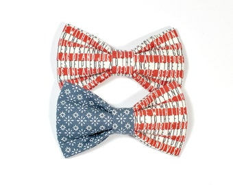 Vintage Patriotic American Flag Dog Bow Tie, Americana, pet bow tie, collar bow tie, wedding bow tie