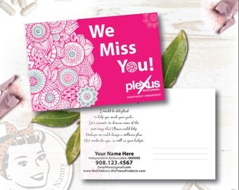 Plexus Postcards - We Miss You - Free Shipping