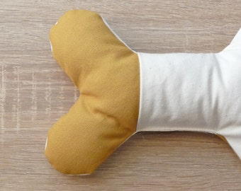 Dog toy bone ORGANIC natural dog toy Stuffed toy for dog Puppy toy Organic cotton and wool