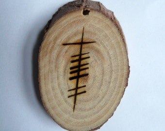 Grá - Love Irish Gaelic Pendant in Ogham