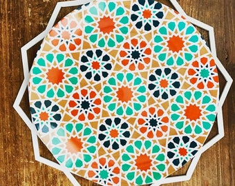 "Tangier 10"" Arabesque Melamine Plates, Ramadan Plates, Eid Plates"
