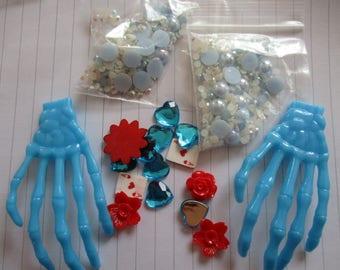 Blue Hands Decoden / embellishment bundle
