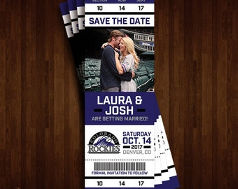 Colorado Rockies Save the Date Ticket