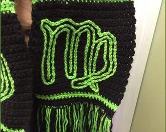 Virgo Scarf, Hand Crocheted