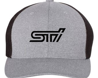 WRX Subaru Sti Flex Fit Hat **ROUND Bill**  ***Free Shipping in BOX***