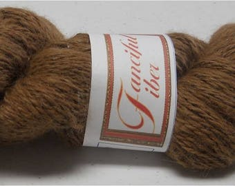 Handspun 100%  Llama Yarn 2 Ply  Medium Brown 6.60 oz 226 yd Sport (20)