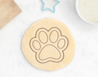 Cat Paw Cookie Cutter - Pet Dog Paw Cookie Cutter Neko Cute Animal Treat Kawaii - 3D Printed