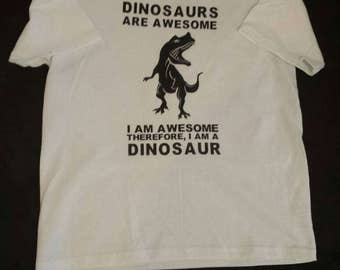 Dinosaurs are awesome tshirt