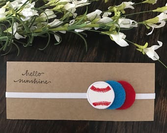 Baseball Felt Headband for Newborn/Baby/Toddler/Little Girl