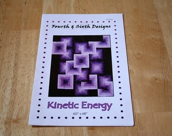 """Sewing Pattern--Kinetic Energy from Fourth & Sixth Designs--60"""" x 68"""" --Free Shipping"""