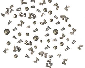 100 Piece Set of Battery Clamp Screws Assortment for Watchmaking Watch Repair Jewelry Tool Kit - WAT-400.10