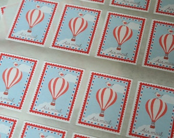 Air mail - 16 stickers