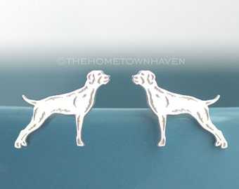 Pointer dog earrings - dog silhouette studs, rescue dog earrings, pointer earrings