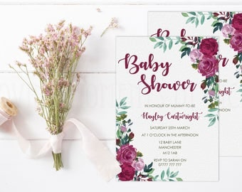 Elegant Baby Shower Invitations with Envelopes