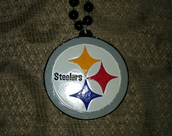 Pittsburgh Steelers Beaded Logo Necklace